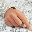 Architect pointing the solution — Stock Photo