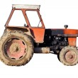 Isolated old tractor — Stock Photo