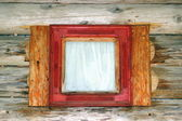 Small lodge window — Stock Photo