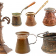 Collection of brass objects - 图库照片