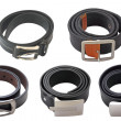 Stok fotoğraf: Collection of belts