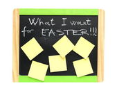 Easter concept on blackboard — Stock Photo