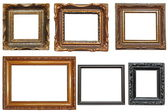 Collection of very old painting frames — Stock Photo