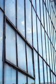 Steel glass wall — Stock Photo