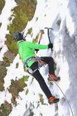 Ice climbing in winter — Stock Photo