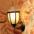 Lamp in  an old castle - Stock Photo