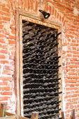 Old wine bottles — Stock Photo