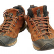Dirty hiking shoes — Stock Photo