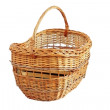 Wooden basket over white — Stock Photo #23762801