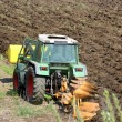 Tractor ploughing the land — ストック写真