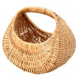 Beige handmade basket — Stock Photo