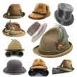 Collection of oktoberfest and hunting hats — Stock Photo #30910361