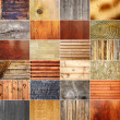 Collection of wooden textures — Stock Photo