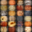 Large collection of wooden textures — Stock Photo