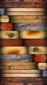 Concevoir avec des tuiles en bois — Photo