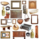 Collage with old vintage objects — Stock Photo
