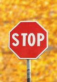 Stop-verkehrszeichen — Stockfoto