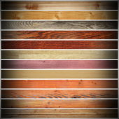 Collection of different wood planks — Stock Photo