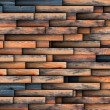 Interesting design for wooden wall — Stock Photo