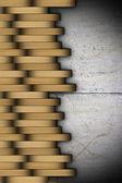Abstract detail of wooden floor — Stockfoto