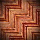 Beautiful floor mounted wood tiles — Foto de Stock