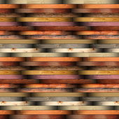 Collection of installed wood planks floor material — Stock Photo