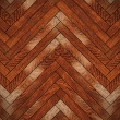 Closeup of brown wooden floor — Stock Photo