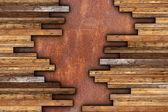 Mounting mahogany parquet — Stock Photo
