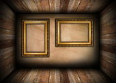 Two old frames on interior wall — Stock Photo