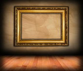 Vintage victorian frame on wall — Photo