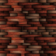 Mahogany abstract wooden wall design — Stock Photo