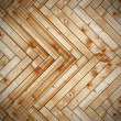 Spruce parquet with vignette — Stock Photo