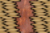 Parquet installed on rusty surface — Stock Photo