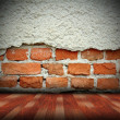 Indoors abstract cracked wall — Foto Stock