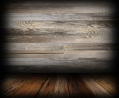 Grungy wooden indoor backdrop — Stock Photo