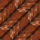 Tiled wooden surface — Stock Photo