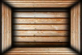 Brown wood finished interior background — Stock Photo