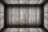 Damaged wooden indoor background — Photo
