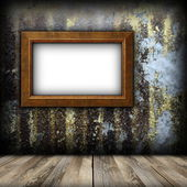 Ancient painting frame on weathered wall — Foto de Stock
