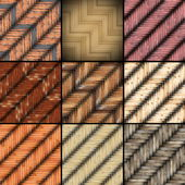 Collection of mounted floor textures — Stock Photo