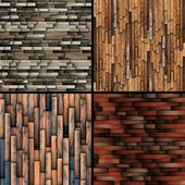 Textures of tiled wooden floor — Photo