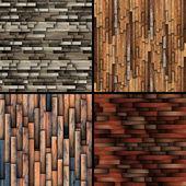 Textures of tiled wooden floor — 图库照片