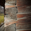 Wood beams mounting technique — Stock Photo #39577953