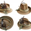 Traditional hunting hat details — Stock Photo