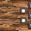 Abstract finished wall with frames — Stock Photo #41475319