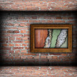 Painting frame with weathered textures — Stock Photo