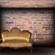 Sofin brick finished room — Stock Photo #41475767