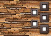 Abstract finished wall with frames — Foto de Stock