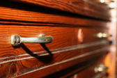 Drawers on antique furniture — Stock Photo