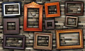 Abstract arrangement of frames — Stockfoto